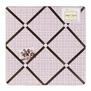 Pink and Brown Teddy Bear Collection Plaid Fabric Memo Board