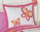 Pink and Orange Butterfly - Kids Bedding 3 Piece Full/Queen Set