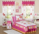 Pink and Orange Butterfly - Kids Bedding 4 Piece Twin Set