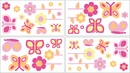 Pink and Orange Butterfly Wall Decals by Sweet Jojo Designs