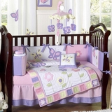 Pink and Purple Butterfly Baby Bedding - 9 Piece Crib Set