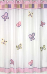 Pink and Purple Butterfly Shower Curtain by Sweet Jojo Designs