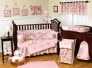 Pink Camo Baby Bedding - 9 Piece Crib Set