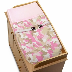 Pink Camo Changing Pad Cover By Sweet Jojo Designs