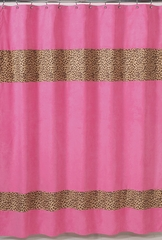 Pink Cheetah Print Bathroom Shower Curtain