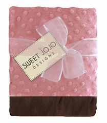 Pink & Chocolate Brown Baby Blanket