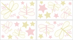 Pink Dragonfly Dreams Wall Decals by Sweet Jojo Designs