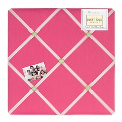 Pink Flower Collection Fabric Memo Board
