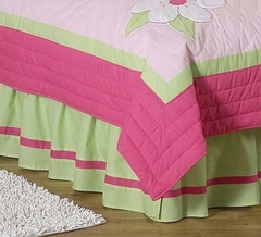 Pink Flower Queen Bed Skirt by Sweet Jojo Designs