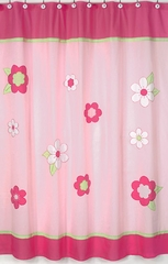 Pink Flower Shower Curtain by Sweet Jojo Designs