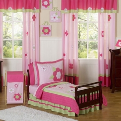 Pink Flower Toddler Bedding Set