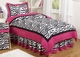 Pink Zebra Kids Bedding - 3 Piece Full/Queen Set