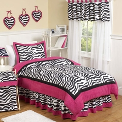 Pink Zebra Kids Bedding - 4 Piece Twin Set
