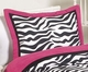 Pink Zebra Toddler Bedding Set