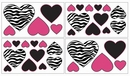 Pink Zebra Wall Decals - Set of 4 Sheets by Sweet Jojo Designs