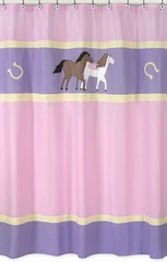Pony Western Shower Curtain by Sweet Jojo Designs