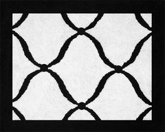 Princess Black and White Collection Rug by Sweet Jojo Designs