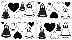 Princess Black and White Collection Wall Decals by Sweet Jojo Designs
