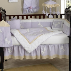 Purple Dragonfly Dreams Baby Bedding - 9 Piece Crib Set