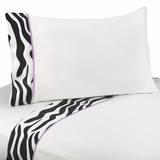Purple Zebra 3 Piece Twin Sheet Set