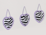 Purple Zebra 3 Piece Wall Hangings By Sweet Jojo Designs
