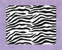 Purple Zebra Accent Floor Rug by Sweet Jojo Designs