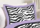 Purple Zebra Collection Pillow Sham by Sweet Jojo Designs