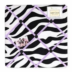 Purple Zebra Print Fabric Memo Board