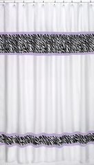 Purple Zebra Print Shower Curtain by Sweet Jojo Designs