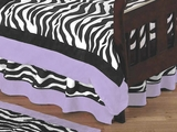 Purple Zebra Toddler Bed Skirt by Sweet Jojo Designs
