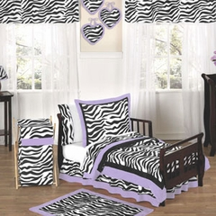 Purple Zebra Toddler Bedding Set