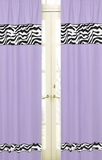 Purple Zebra Window Panel Curtains by Sweet Jojo Designs