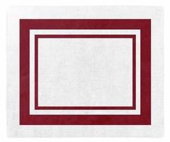 Red and White Modern Hotel Accent Floor Rug