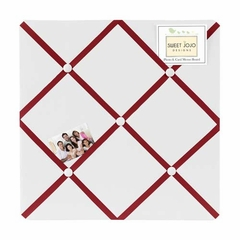 Red and White Modern Hotel Fabric Memo Board by Sweet Jojo Designs
