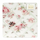 Riley's Roses Shabby Chic Fabric Memo Board