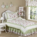 Riley's Roses Shabby Chic Kids Bedding - 4 Piece Twin Set