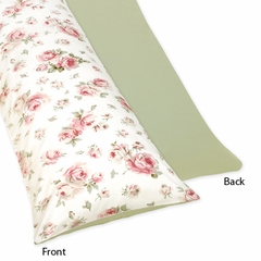 Riley's Shabby Chic Roses Collection Body Pillow Cover