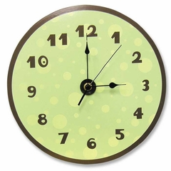 Sage and Brown Dot Clock