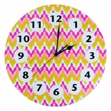 Savannah Chevron Wall Clock by Trend Lab