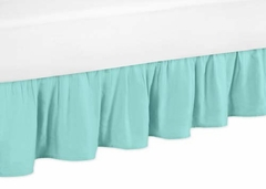 Skylar Collection Turquoise Ruffle Queen Bed Skirt