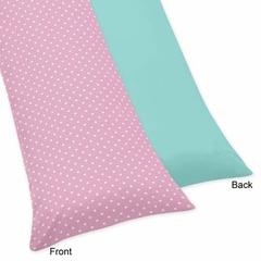 Skylar Pink and Turquoise Body Pillow Cover