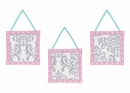 Skylar Pink, Gray and Turquoise Wall Hangings