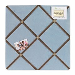 Soho Blue and Brown Collection Fabric Memo Board