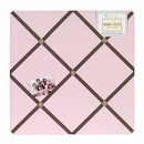 Soho Pink and Brown Collection Fabric Memo Board