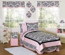 Sophia Damask Kids or Teen Bedding - 4 Piece Twin Set