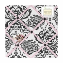 Sophia Damask Pink, Black and White Fabric Memo Board