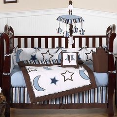 Stars and Moon Baby Crib Bedding 9 Pc Set