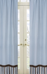 Brown And Blue Curtains Panels Black and White Window Curtains