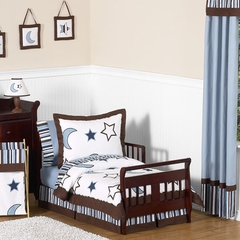 Stars and Moon Toddler Bedding Set