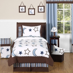 Stars and Moon Twin Bedding 4 Pc Set